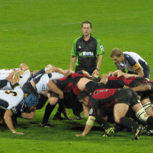 Taken at Jade Stadium, Christchurch, New Zealand. Rugby Super 14, Crusaders vs Brumbies, 12th May 2006. Crusaders won 33-3.