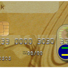 AN example of a chip and PIN card
