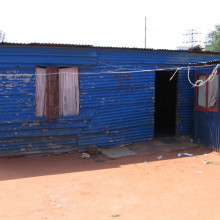 Shack housing in Soweto, Johannesburg