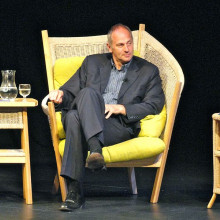 Sir Steve Redgrave, British Olympic athlete, on stage in Salisbury, England.