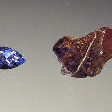 Tanzanite both cut and uncut