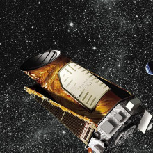 Artist's concept showing the Kepler spacecraft
