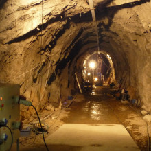 The tunnel in France, 900ft underground, where the fluid-injection experiments were conducted