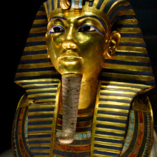 Tuthankamen's famous burial mask, on display in the Egyptian Museum in Cairo.