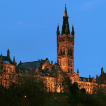 The Gilbert Scott Building at the University of Glasgow.