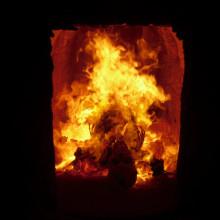 burning body in a crematory (crematory Meißen, Germany/Saxony)