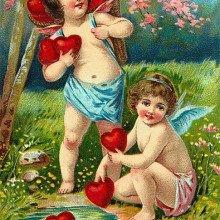 Victorian Valentine's Day Card