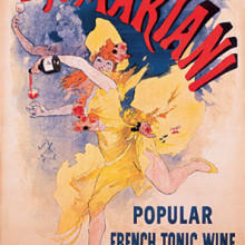 Mariani tonic Wine - lithography by Jules Cheret, 1894
