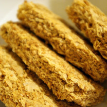 Four Weet-bix in a bowl