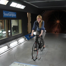 Kat in the University of Southampton's wind tunnel