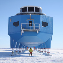 BAS project manager, Karl Tuplin, at the south end of the modules