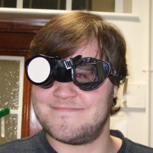 Ben in the prismatic goggles