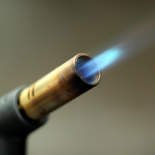 A gas blowtorch for braising and welding
