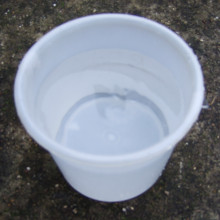 A bucket of water with a strong handle