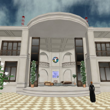 Front view of the Naked Scientists Studio in the heart of the SciLands