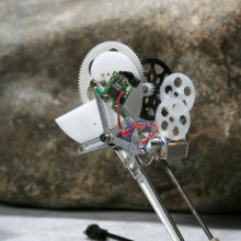 About the size of a locust and weighing on 7 grams, this tiny robot can jump 27 times its own size.