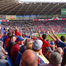 Football Crowd at Cardiff City Stadium