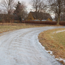 An Icy road
