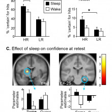 Effect of sleep on confidence at retest