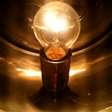 Traditional incandescent lightbulb