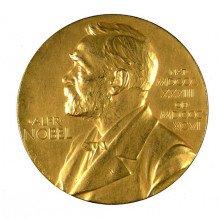 Nobel Prize medal inscribed