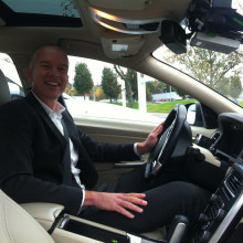 Engineer Erik in Volvo's Driverless Car