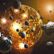 During the late heavy bombardment about 3.9 billion years ago, massive impactors rained down, re-surfacing the Earth and bringing with them the gold and other precious metals we cherish today...