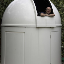 Roger Hutchinson in his observatory