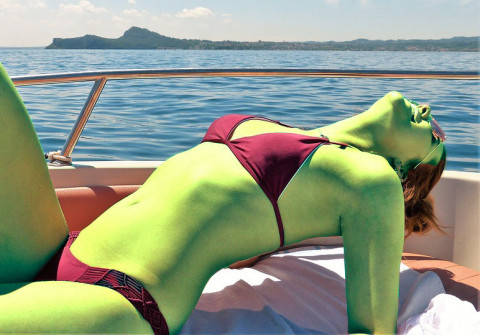 Green sunbather
